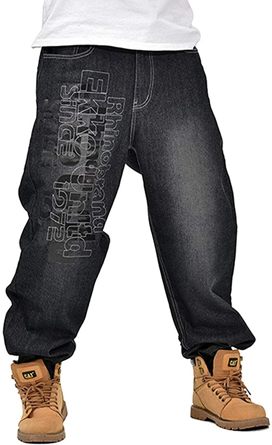 d368f887430d5 Pit4tk Hip Hop Embroidery Jeans Denim Pants Baggy Men's osmyhp4650 ...