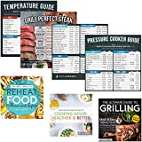 Pressure Cook Times Cheat Sheet Magnet Chart Compatible with Emeril Lagasse, Instant Pot, Ninja Foodi, Crockpot +More | Electric Slow Cooker Temperature Guide Accessories for Quick and Easy Reference