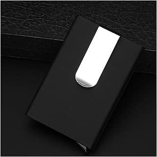 Men'S Wallets Credit Card Holder Automatic Card Sets Business Aluminum Wallet,Black