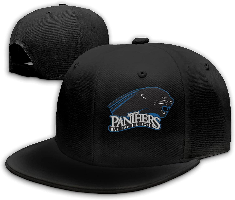 Ali Yee Eastern Illinois University Logo Adjustable Flat Brim Hat, Outdoor Hat, Unisex Sports Baseball, Trucker Hat Black
