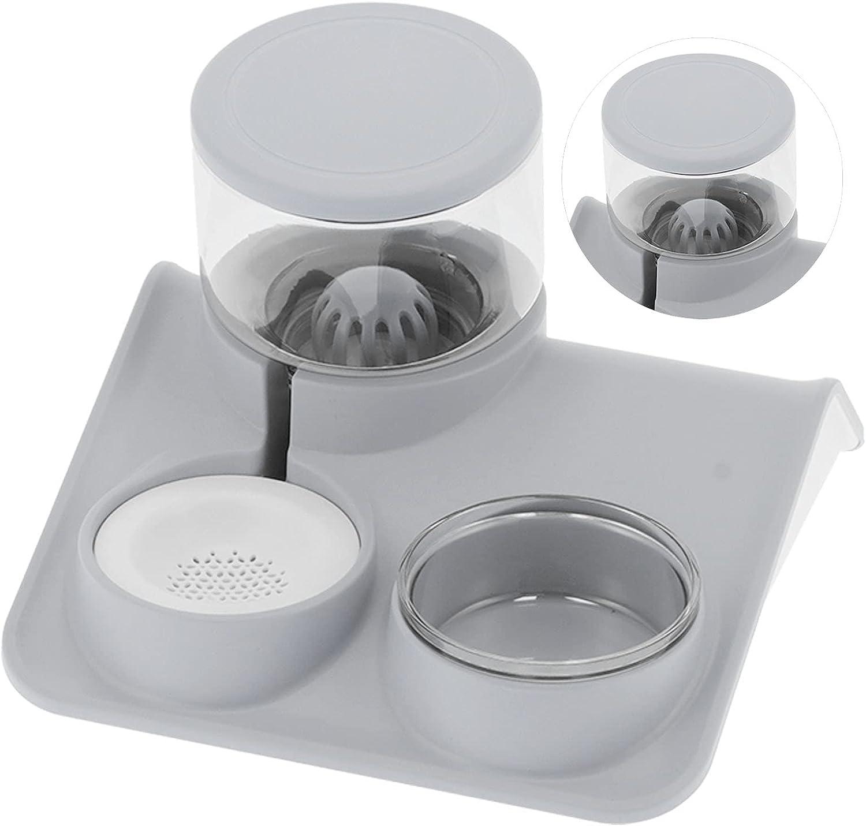 Pet Water Dispenser and Food Bowl Max 63% OFF No-Spill Cat D 1.8L Set Elegant