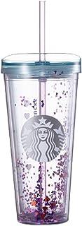 海外限定 Starbucks Valentine heart glitter coldcup 650ml スタババレンタインハートグリッターコールドカップ*海外直配送*
