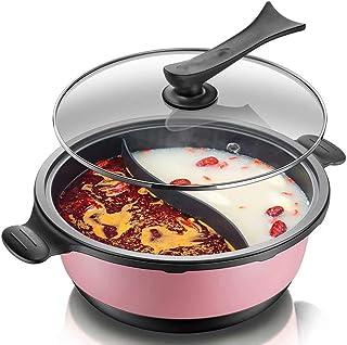 BBQ Hot Pot Hot Pot Barbacoa Eléctrica/Hogar Multifunción Barbacoa Combinada Olla Cocina Eléctrica Una Olla Dos Sabores 6L Gran Capacidad 6-10 Personas