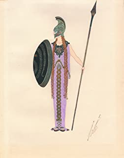Berkin Arts Erte Giclee Canvas Print Paintings Poster Reproduction(Athena)