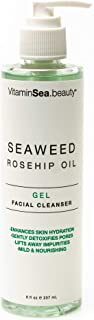 VitaminSEA.beauty Gel Face Cleanser with Vitamin C and E | Seaweed & Rosehip Oil - 8 Fl Oz
