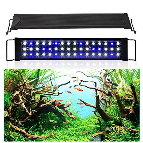 Hengda 2 Mode Eclairage Aquarium LED étanche Lumiere Aquarium Plantes Éclairage Aquarium pour Aquarium de 50-80 CM