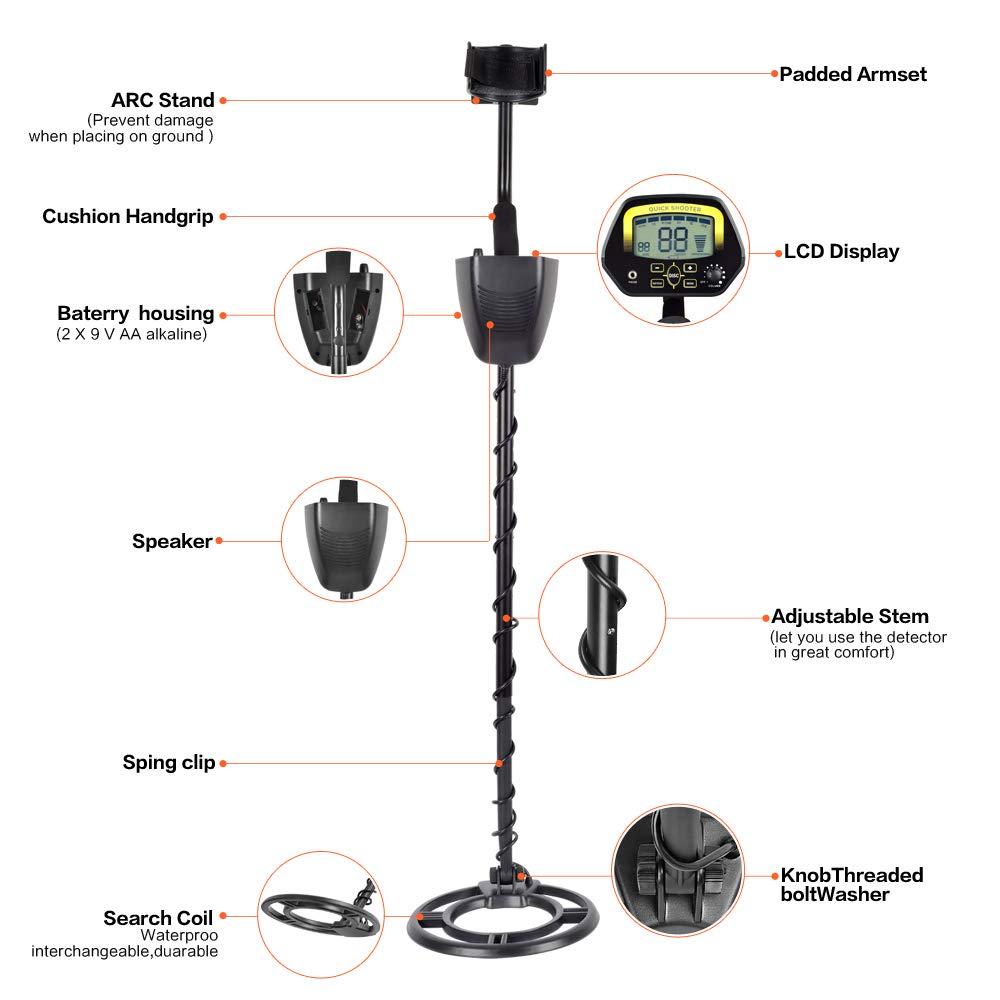 HUKOER Detector de Metales MD3030 Detector Profesional liviano de ...