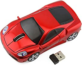 Ai5G for Ferrari Car Mouse Wireless Sports Car Mouse Computer Mice 2.4GHz 1600dpi Optical Gaming Mice (Red)