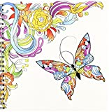 3dRose db 102507 1 Abstract Flower Swirl and Colorful Butterfly Vector Design-Drawing Book