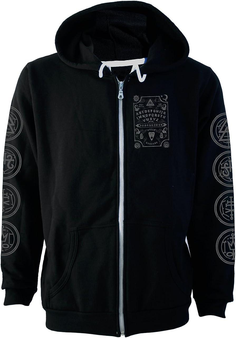 Darkside Clothing Ouija Board Grey Be super welcome Font Hoodie Today's only Black Fleece Zip