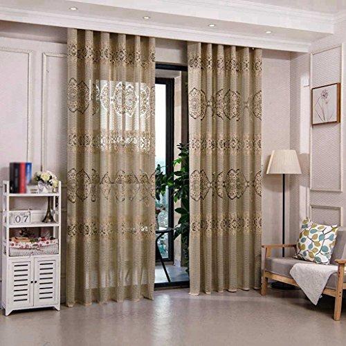 Met Love Xinfu Caractère Chinois Style Fenêtre Criblage Lumière Perméabilité Salon Étude Haut de Gamme Classique Atmosphérique Jacquard Gaze Baie Fenêtre 2 Panneaux (taille : L:3.0*H:2.7m)