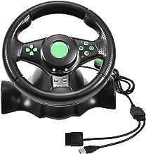 Yoidesu Racing Wheel and Pedals, 23cm Wheels Racing Steering Wheel with Vibration Feedback, 180 Degree Rotation, Video Gam...