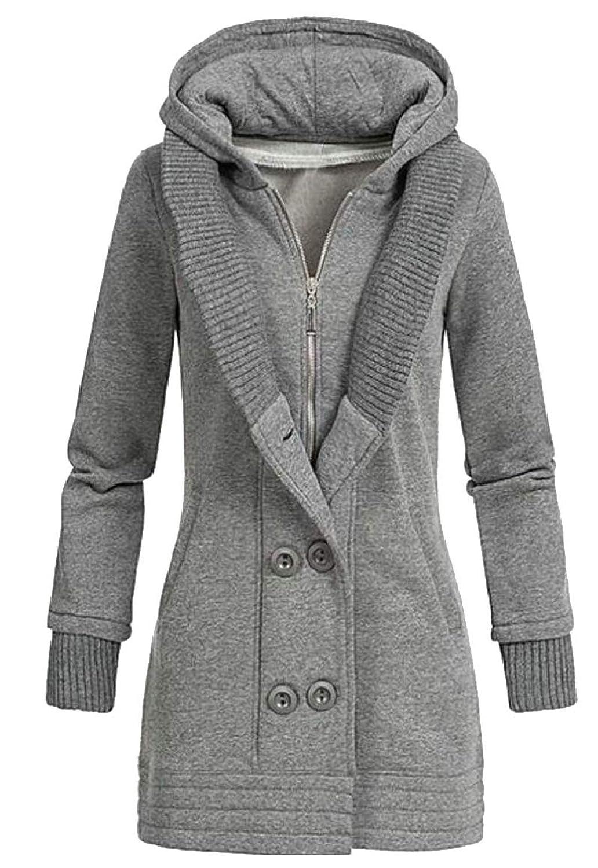 maweisong 女性秋冬ファッションスリムフィット固体オーバーコートコートアウト