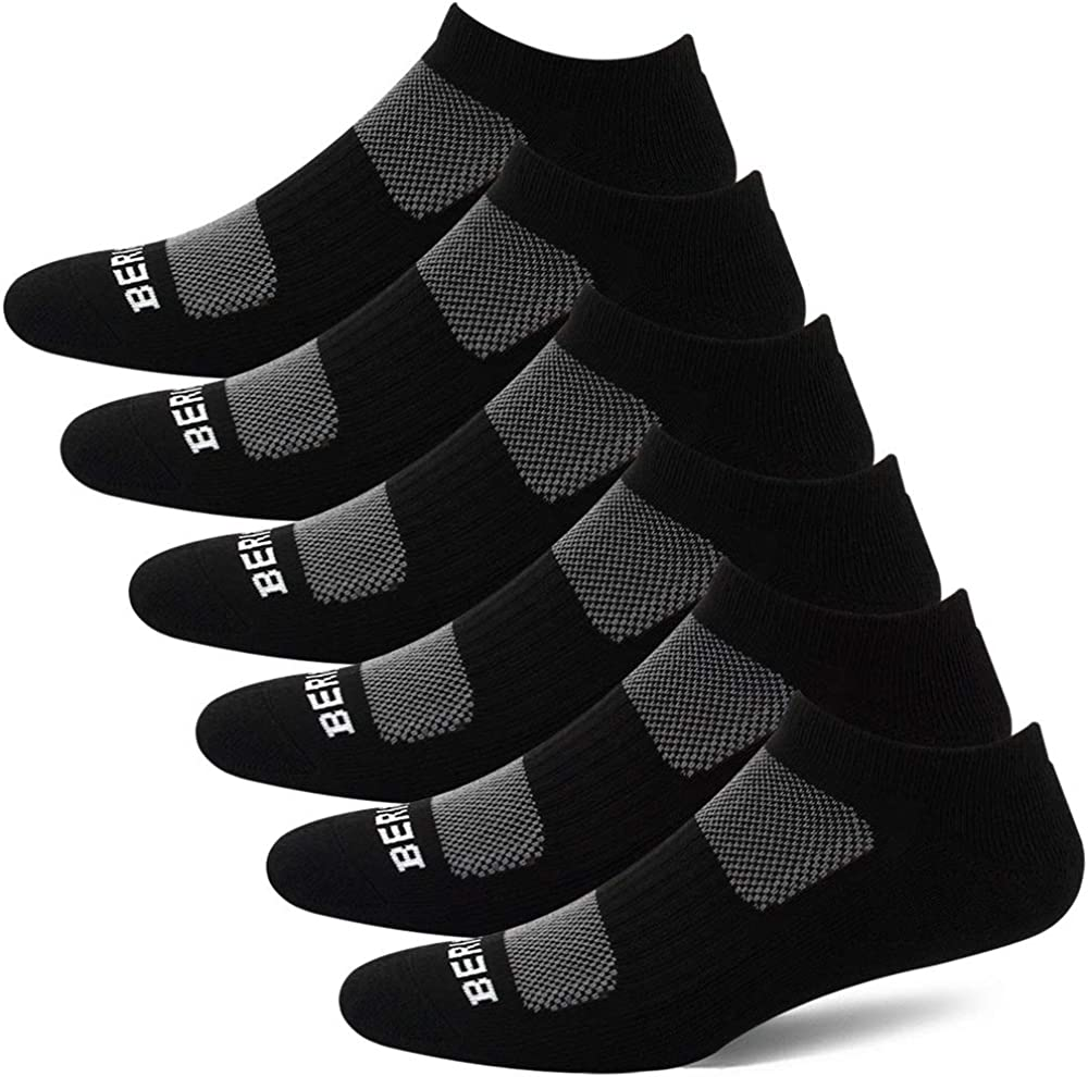 BERING Women's Athletic Low Ankle Cushion Running Socks (6 Pairs)