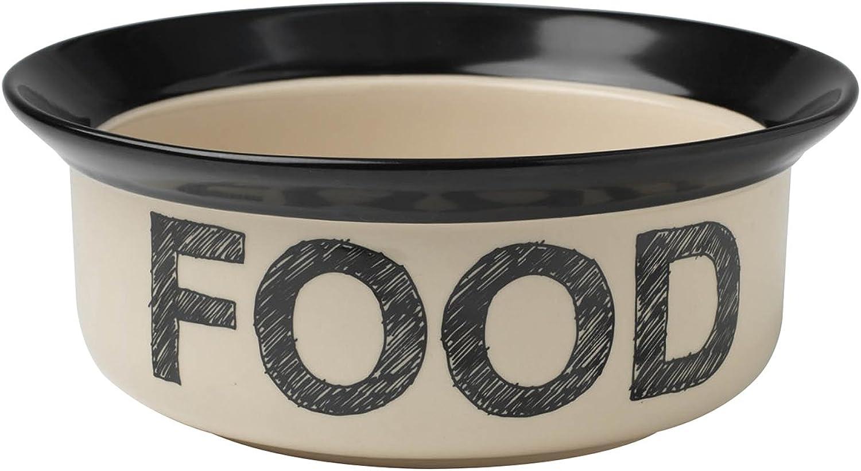 Petrageous Designs Pooch Basics 8Inch Pet Food Bowl