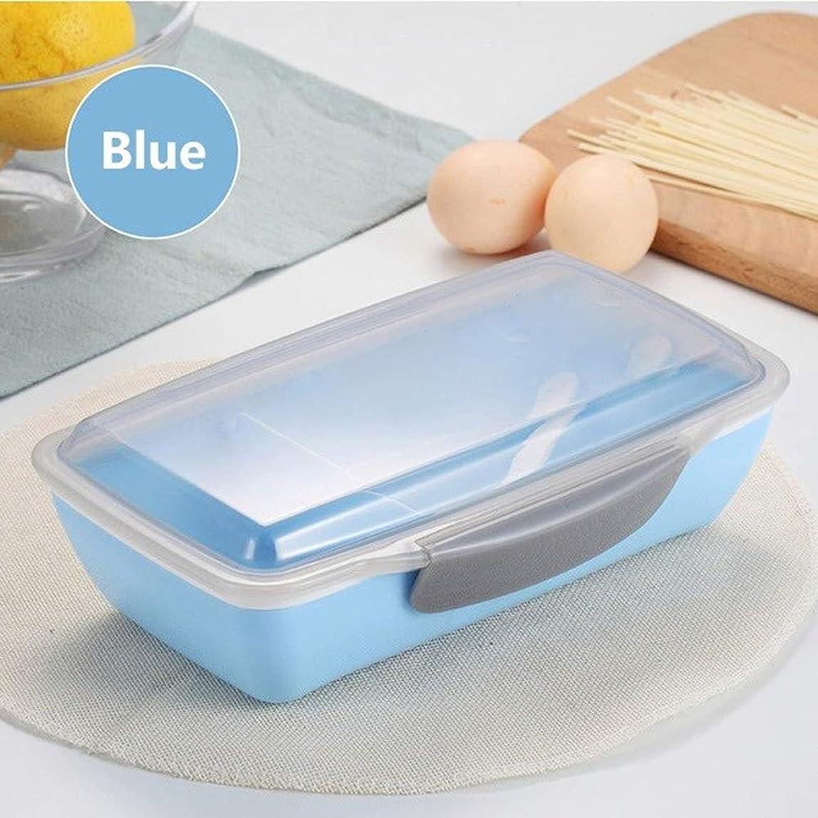 少し物思いにふける段階JPYLY ランチボックスポータブルBPAフリー750ML電子レンジで食品保存容器保存フルーツサラダ弁当箱のためにピクニック学校の子供たち (Color : E ブルー)