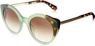 Kate Spade Women's Norina/s Round Sunglasses, Green Havana, 50 mm