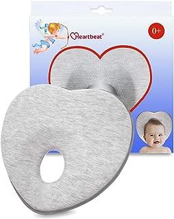 Heartbeat Baby Pillow Flat Head Baby Pillow Baby Head Shaping Pillow Baby Pillow for Newborn for Baby Lounger Pillow Heart Shaped, Flat Head Prevention, Baby Feeding Pillow