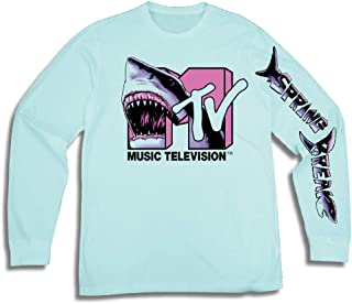 dc882d6fcd33d5 MTV Mens Long Sleeve Shirt -  TBT Mens 1980 s Clothing - I Want My T