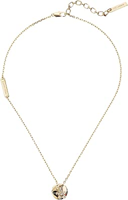 Marc Jacobs - MJ Coin Crystal Pendant Necklace