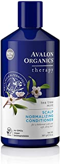 Avalon Organics Therapy Scalp Normalizing Conditioner, Tea Tree Mint, 14 Oz