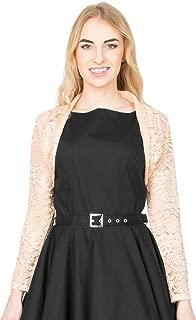 Floral Lace Long Sleeve Open Bolero Evening Jacket Blouse