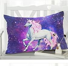 WECE Unicorn Nebula Galaxy Outer Space Home Decor Pillowcase Pillow Cover with Zipper, Unicorn Nebula Galaxy Outer Space Pillow Case Cover - 20x30 inches, Twin-Sided Print