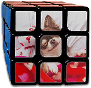 Custom 3x3 Magic Cube for Kids Best Brain Training Toys 3x3x3 Cute Chihuahua Dog Animal Toys Puzzle Party Game for Boys Girls Kids Toddlers-55mm