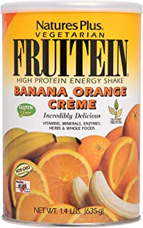NaturesPlus Fruitein Banana Orange Crème High Protein Energy Shake - 2.8 lbs, Vegetarian Powder - Vitamins, Minerals, Enzy...