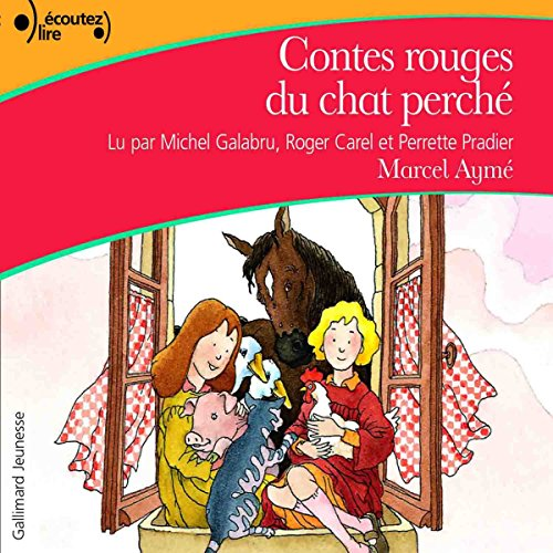 Contes rouges du chat perché audiobook cover art