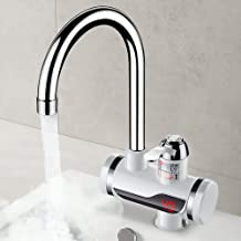 KJDFN Luxurious Electric Faucet Kitchen Bathroom, Hot Water Heater, Hot and Cold, Hot and Cold Display, Water Temperature Faucet Practical