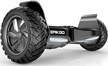 """EPIKGO Self Balancing Scooter Hover Self-Balance Board - UL2272 Certified, All-Terrain 8.5"""" Alloy Wheel, 400W Dual-Motor, LG Battery, Board Hover Tough Road Condition [Classic Series, Space Grey]"""