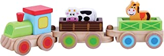 Childrens Wooden Toy Push Along Farm Train with Animals by ® zhaoyun