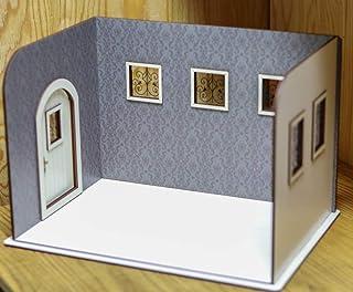 1/10スケールドールハウス壁紙 ドアと窓のお家