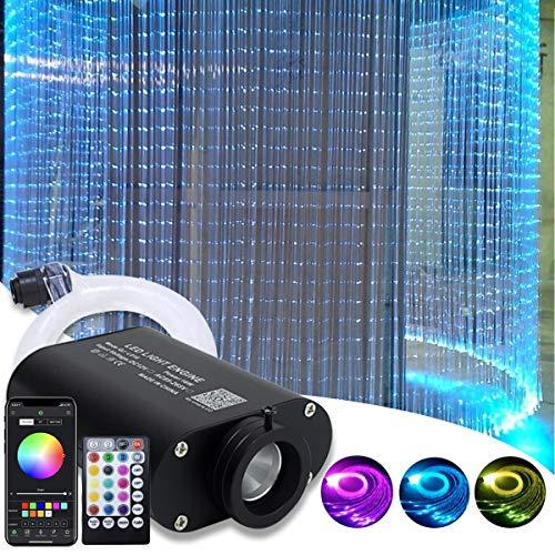 Flash Point Kit de luz de fibra óptica, Motor de luz: aluminio. Cable de fibra óptica: plástico, Blanco, 300pcs*0.03in/0.75mm*9.8ft/3m