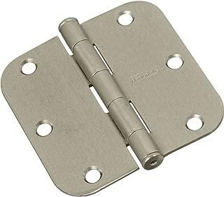 National Hardware N830-328 V512R5/8 Door Hinges  in Satin Nickel, 3 pack
