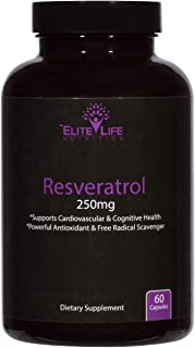 Pure Resveratrol 250mg - Trans-Resveratrol - Super Antioxidant For Men And Women - Supports Heart, Brain, And Immune Syste...