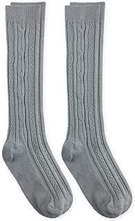 Jefferies Socks Girls School Uniform Cable Knit Knee High Socks 2 Pair Pack