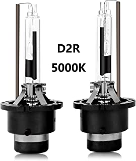 D2R HID Xenon Headlight Replacement Bulbs 35W 5000K High And Low Beam ZRSJ Car Headlights (Pack of two bulbs) - 2 Year Warranty (5000k, D2R)