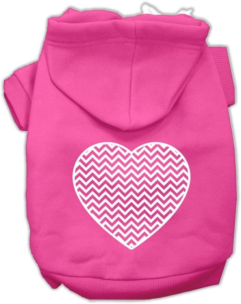Mail order cheap Mirage Pet Max 48% OFF Products Chevron Heart Screen Dog Print Hoodies