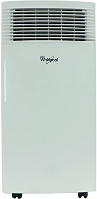 Whirlpool 10,000 BTU Single-Exhaust Portable Air Conditioner with Remote Control in White, Rooms up to 200-Sq. Ft