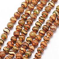DZI Achat Buddha Edelstein Perlen, 8mm, Kugel, Tibetanischer Natur Effloresce Schmuckperlen, Perlenstein, Schmuckstein, Agate Beads Gemstone (Model-2)