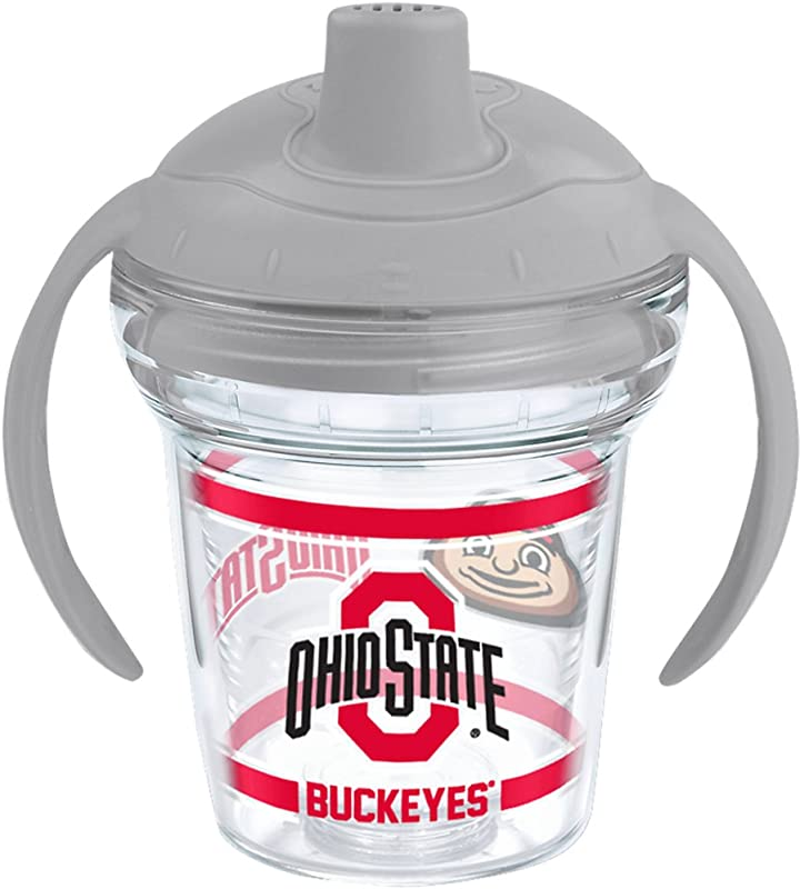 Tervis 1177820 Ohio State Buckeyes Tumbler With Wrap And Moondust Gray Lid 6oz My First Tervis Sippy Cup Clear