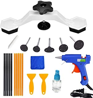Safety Equipment 22 Pieces/Set of car dent Body Repair Tools, Bridge dent Puller Without Paint, with 20W Glue Gun, 6 Labels, 10 Glue Sticks, Used for car dents, Sills and Hail Damage Repair Safe and