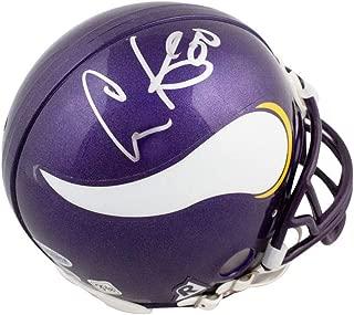 Chris Carter Autographed Minnesota Vikings Mini Football Helmet - BAS COA
