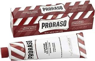Proraso シェービングクリーム チューブ サンダルウッド&シアバター150ml[海外直送品] [並行輸入品]