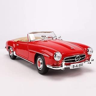 GFLD Miniaturas de automoción 1:18 simulación de aleación Modelo de Coche 1955 Mercedes 190SL Modelo de Coche Retro Classic Car Toy