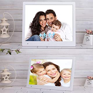 Digital Photo Frame 15 inch, IPS Screen (1366X768) High Resolution Support MP3 MP4 Pictures and Video Player Clock and Cal...