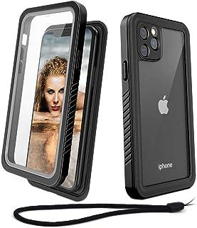 Beeasy Funda iPhone 11 Pro Antigolpes,IP68 Certificado Sumergible Carcasa,360 Grados Protección con Protector de Pantalla Incorporado,Militar Antichoque Estanca Impermeable Antipolvo,Negro + Gris