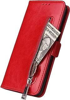 HUDDU Handyh/ülle Kompatibel mit Samsung Galaxy A10 M10 H/ülle Leder Wallet Schutzh/ülle 3 Kartenf/ächer Rei/ßverschluss Brieftasche Magnetverschluss Filp Tasche PU Case St/änder Lederh/ülle Wristlet Blau